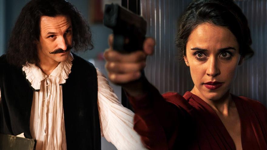 Julián Villagrán y Macarena García en 'El Ministerio del Tiempo'
