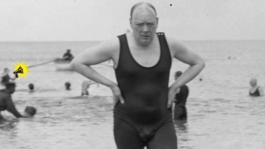 """""""Cari, pásame la riñonera"""". Winston Churchill"""