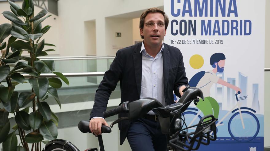 José Luis Martínez-Almeida, en la presentación de la semana de la movilidad. / Ayuntamiento de Madrid