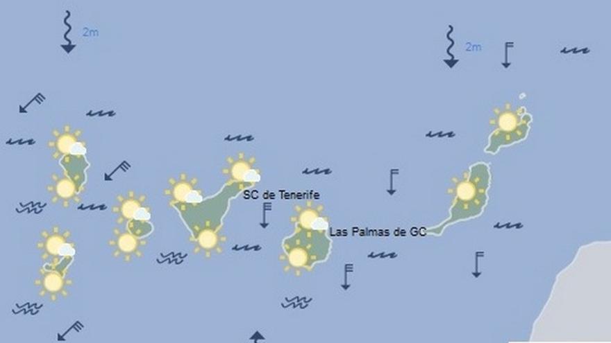 Previsión del tiempo en Canarias para este miércoles