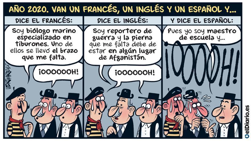 Un francés, un inglés y un español