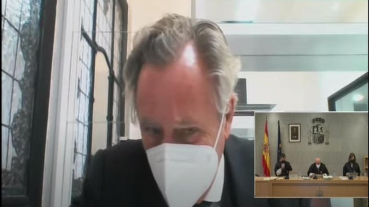 Ignacio López del Hierro declara por videoconferencia en el juicio de la caja B