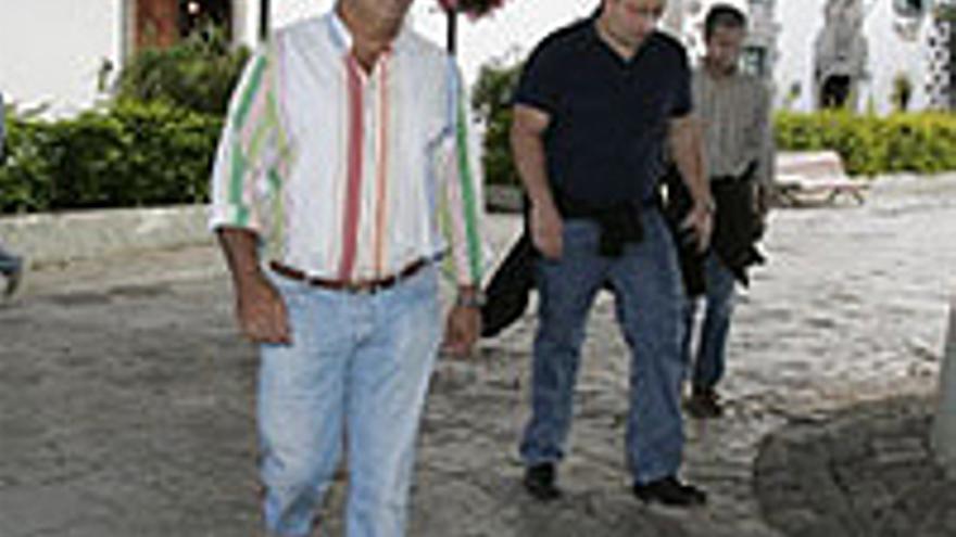 José Luis Mena, durante una de sus dos detenciones.