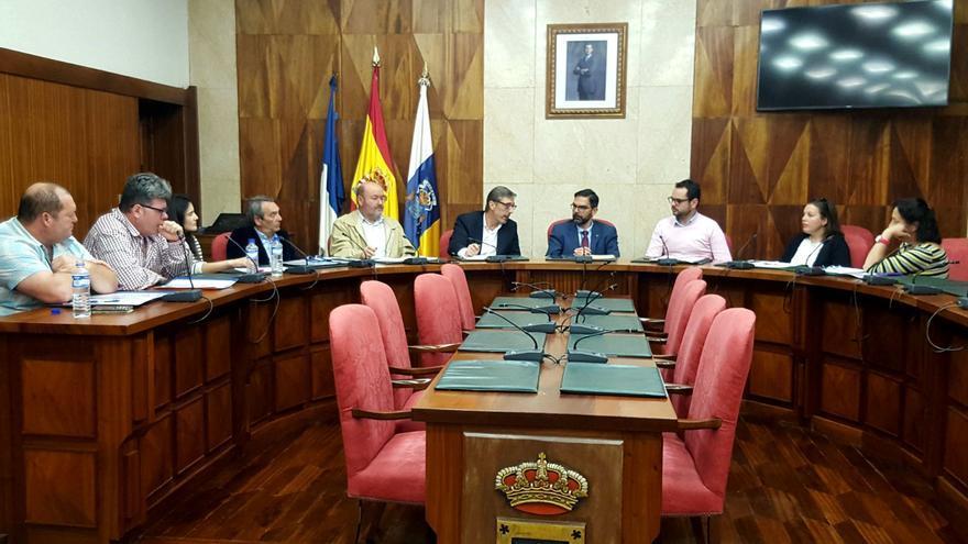 Reunión donde se analizó la siniestralidad laboral  en La Palma.