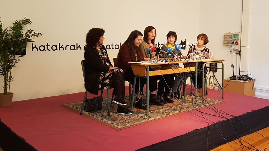 Presentación en Pamplona de la Plataforma Navarra de Mujeres por la Abolición de la Prostitución.