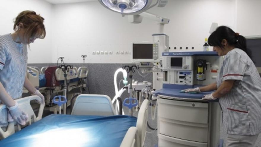 Personal de limpieza de un hospital