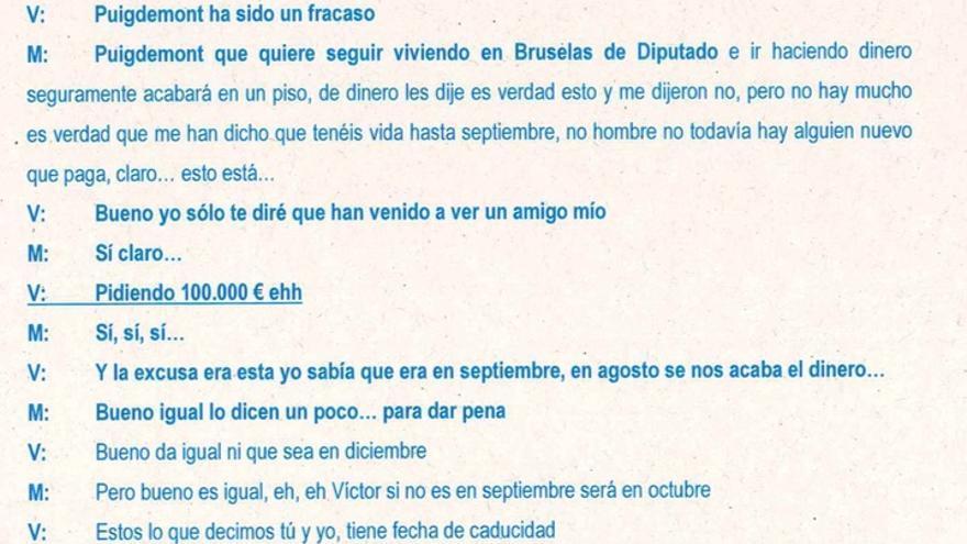 Terradellas crítica a Puigdemont dos años después