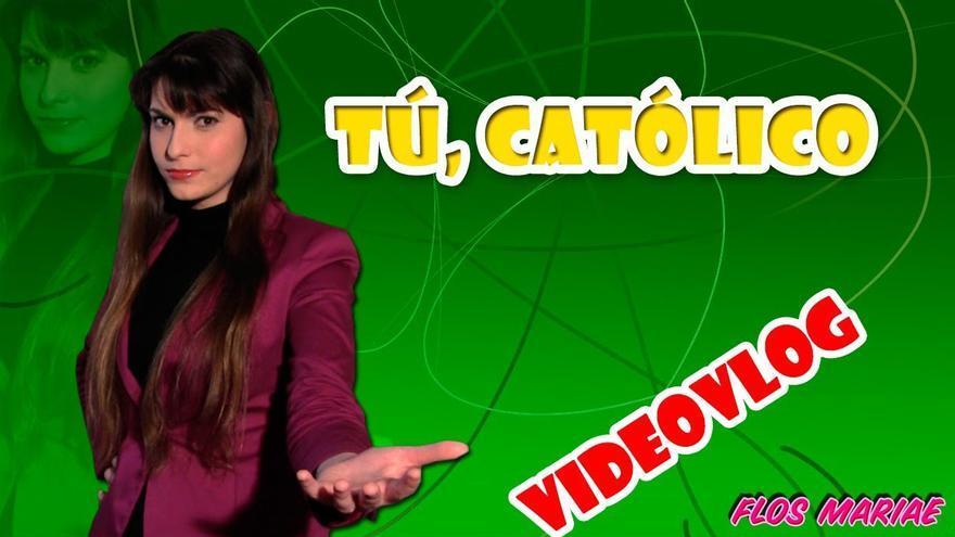 Una de las 16 hijas de la familia Bellido Durán en uno de sus vídeos para viralizar el catolicismo.