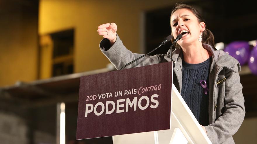 Irene Montero en el acto de Podemos en Gran Canaria (ALEJANDO RAMOS)