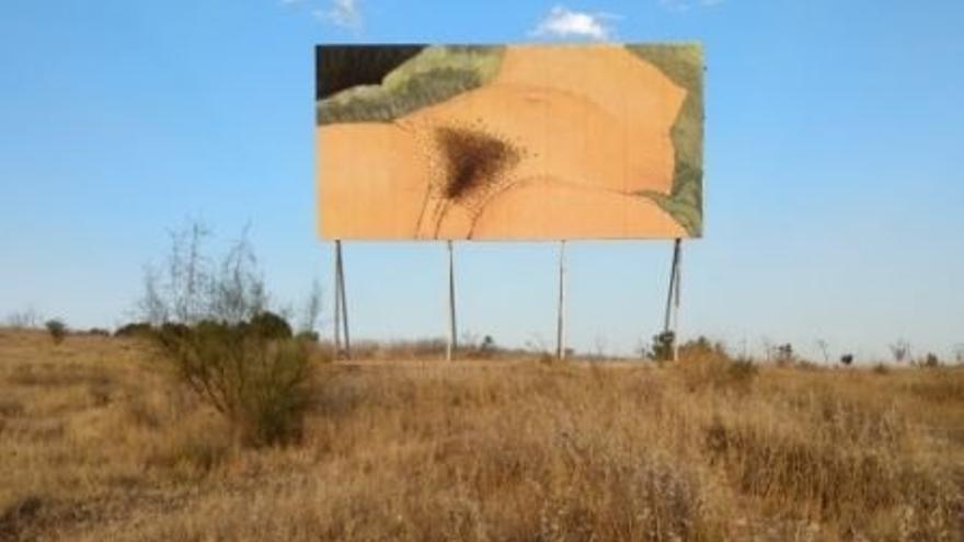 Imagen de la obra 'El Origen del Mundo' del artista Sam3 en la localidad de Rivas vaciamadrid.