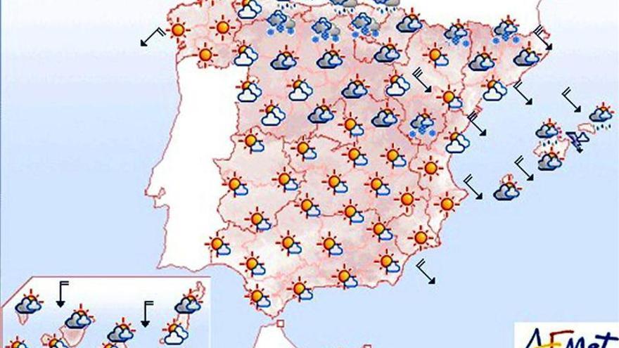 Mañana, nieve a partir de 400 metros y temperaturas sin cambios notables