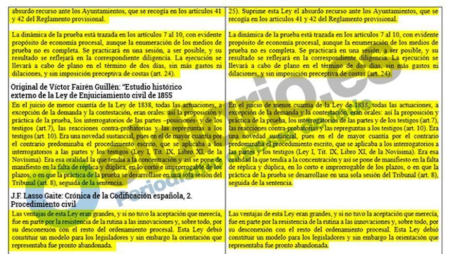 Párrafos intercalados de varios autores en el texto de Fernando Suárez.