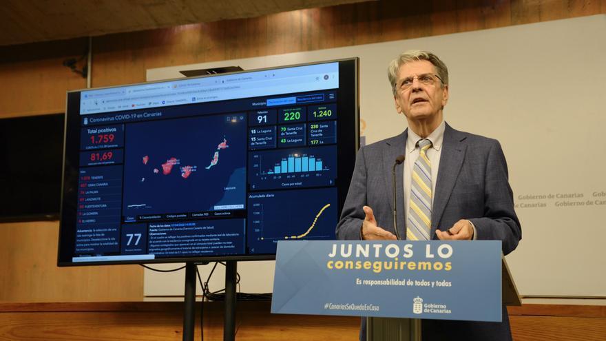 Julio Pérez, consejero de Sanidad del Gobierno de Canarias.