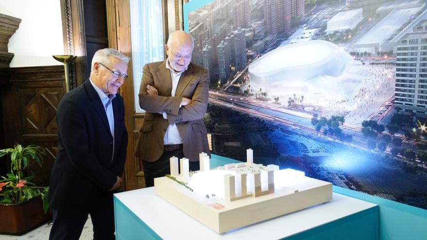 El alcalde de València, Joan Ribó, junto a Juan Roig, en la presentación del proyecto