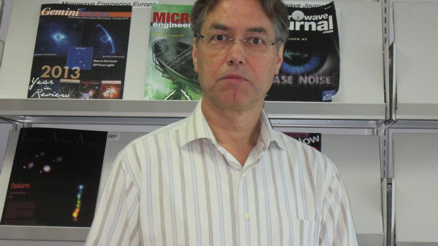 Marc Balcells dirige del Grupo de Telescopios Isaac Newton desde 2009. Foto: LUZ RODRÍGUEZ.