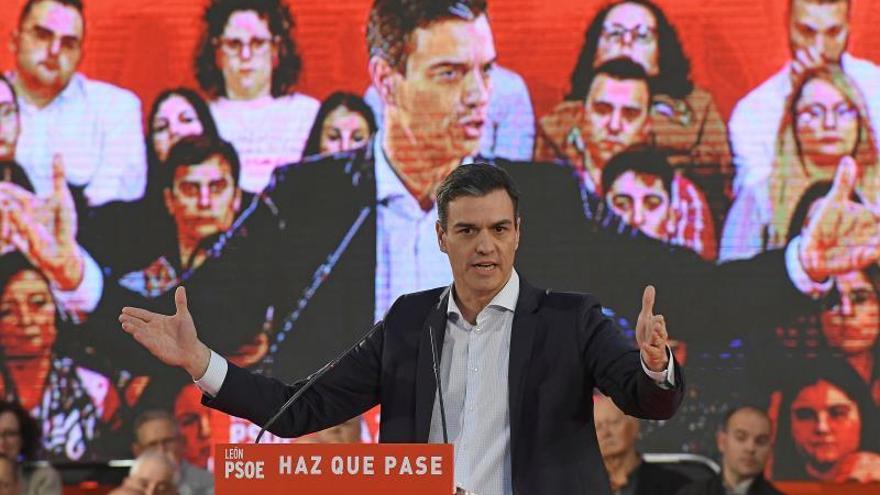 """Pedro Sánchez alerta del """"riesgo real"""" de que las derechas """"sumen la mayoría"""""""