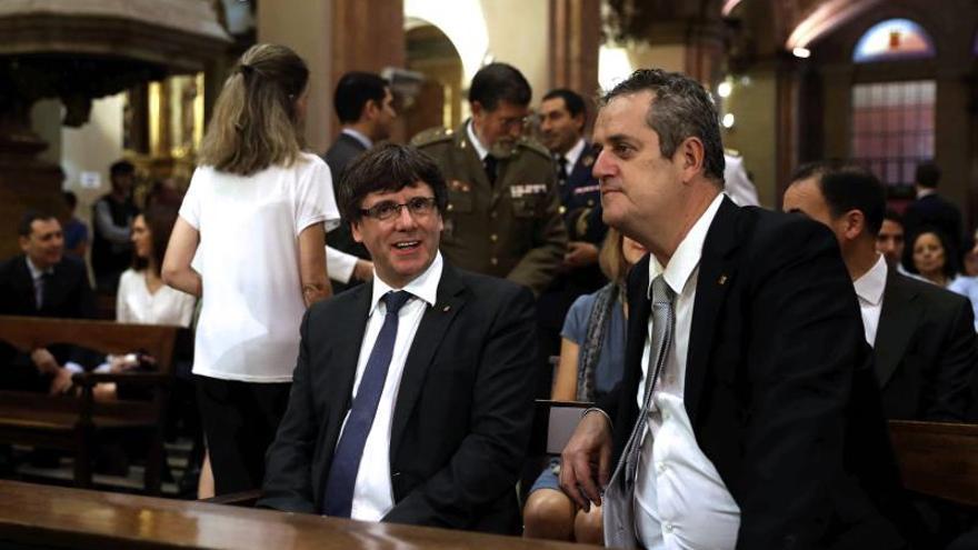 Puigdemont y Forn, en una misa de la festividad de la Mercè