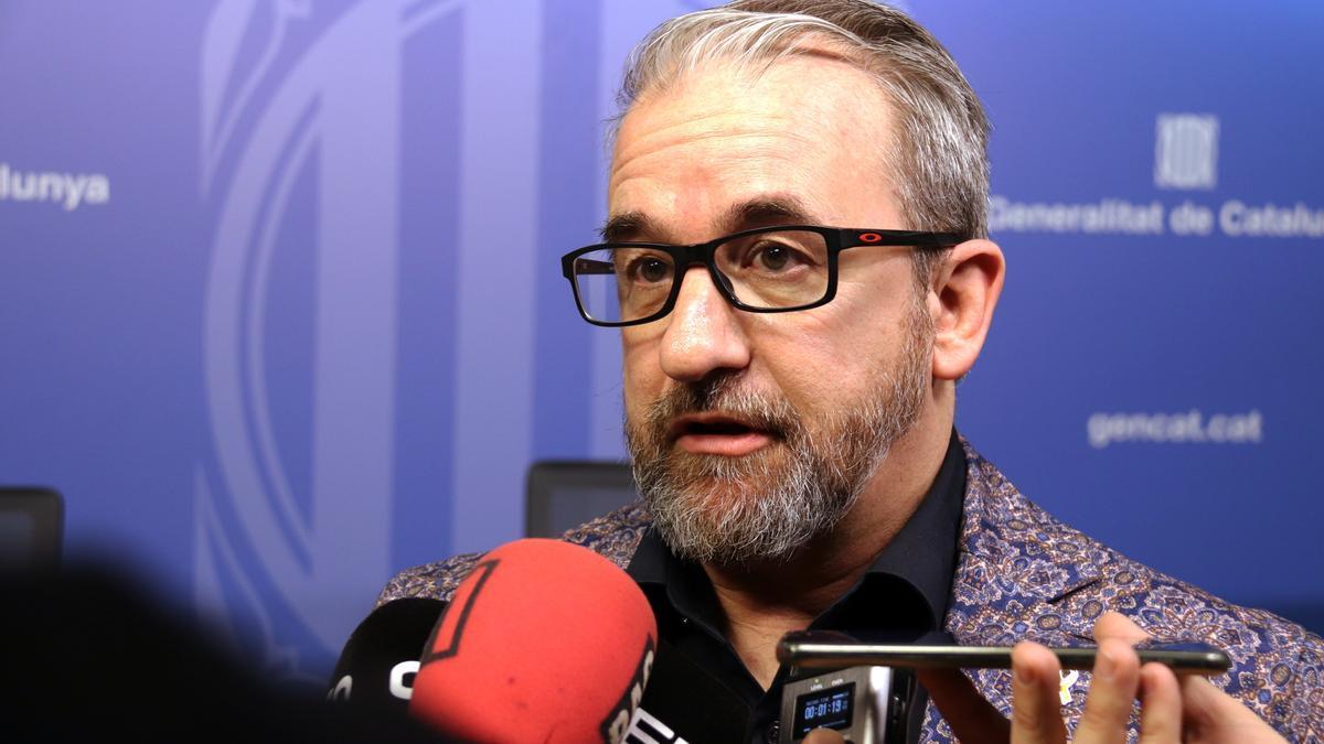 El exsecretario de Treball de la Generalitat, Josep Ginesta, en una imagen de marzo de 2020.