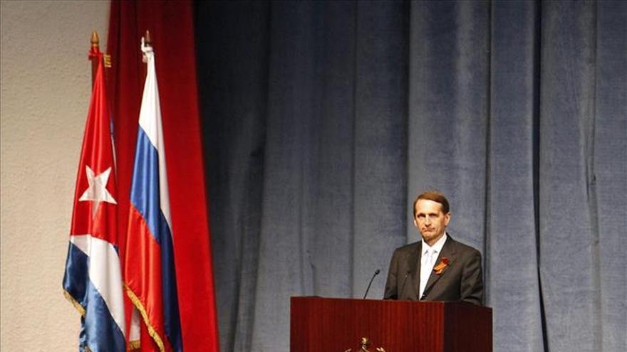 Líder de la Duma rusa celebra en Cuba 70 años de la victoria en la II Guerra Mundial