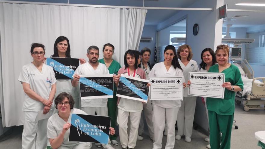 Personal del hospital Lucus Augusti (Lugo) muestra su solidaridad con el personal movilizado