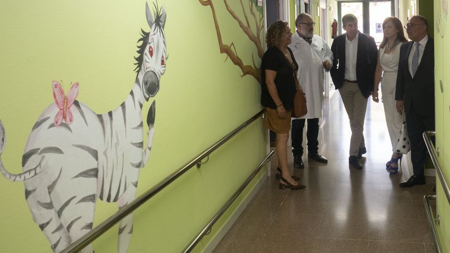 Visita de Fernando Clavijo al Hospital General de La Palma.