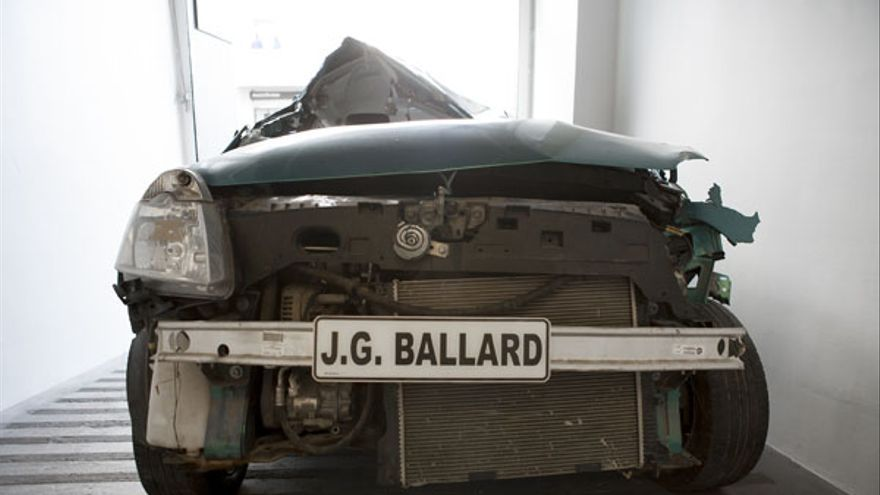 Crash: Letter for JG Ballard 2013. Car, customised licence plate.