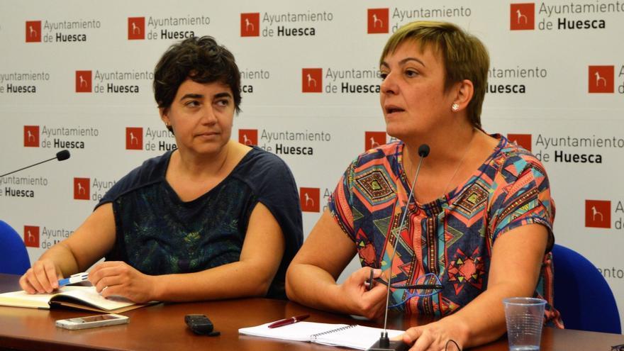 Silvia Mellado y Pilar Novales, de Con Huesca