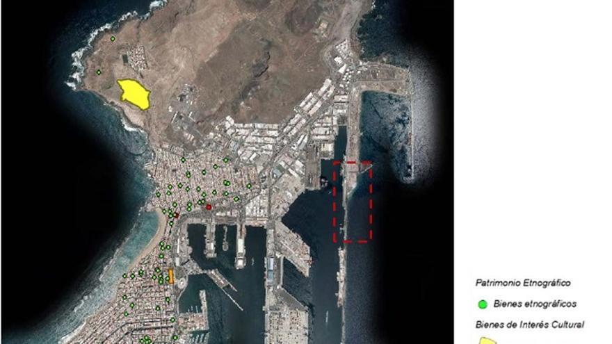Vista aérea de la ubicación del proyecto de GNL (Gas Natural Licuado).