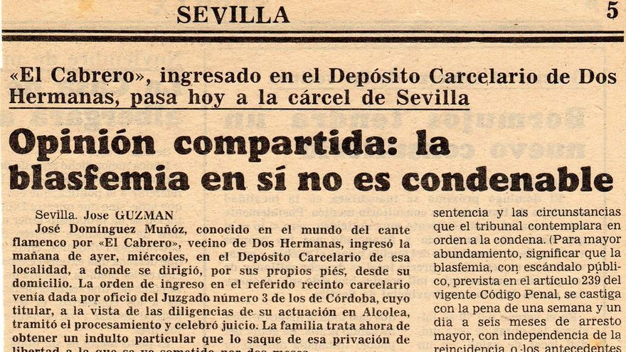 Lo que le ha pasado a Willy Toledo, ya le pasó a José Domínguez 'El Cabrero'... en 1982