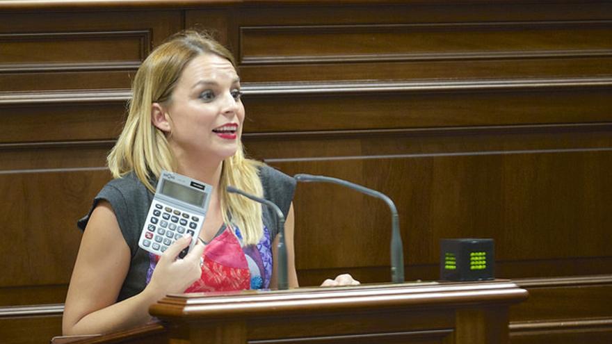 Noemí Santana, portavoz de Podemos en el Parlamento de Canarias.  (FLICKR PARLAMENTO DE CANARIAS)
