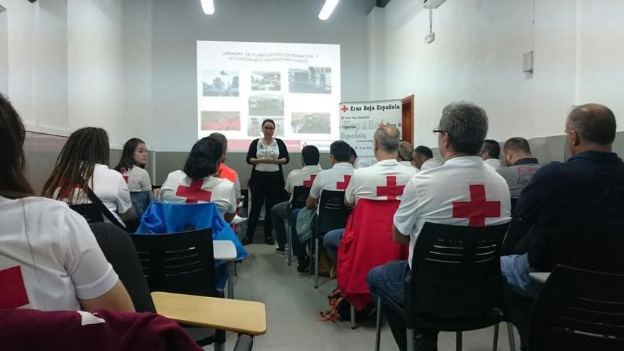 En la imagen, Carmen Brito en su intervención en las jornadas.