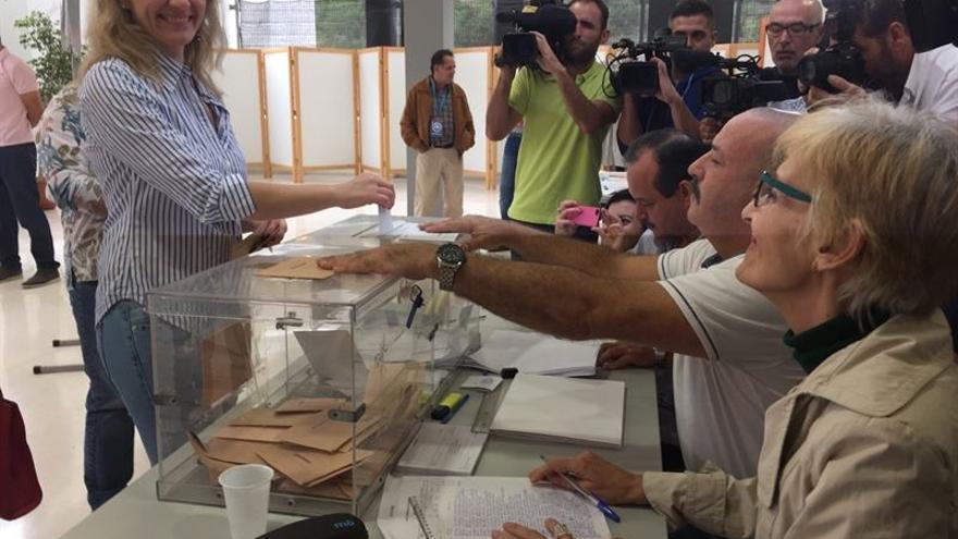 La candidata de Podemos al Congreso por la provincia de Las Palmas, Victoria Rosell