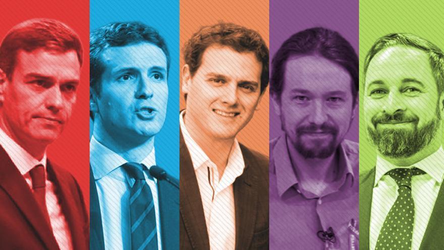 Candidatos a la presidencia del Gobierno de los principales partidos en las Elecciones Generales de 2019
