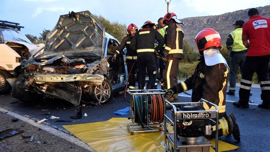 Cinco heridos, dos de gravedad, en accidente de tráfico en N-234, en Soria