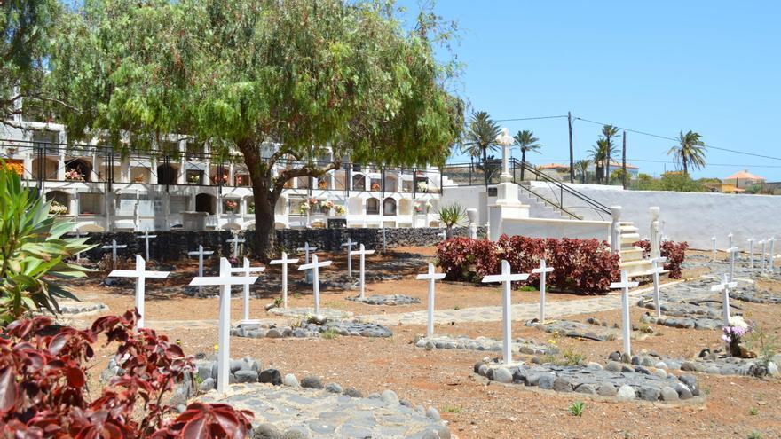En la imagen, del cementerio municipal