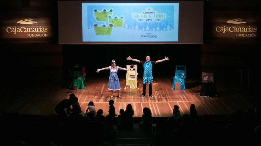 La compañía Mariquita y Tontón interpretando 'La Princesa Valiente'