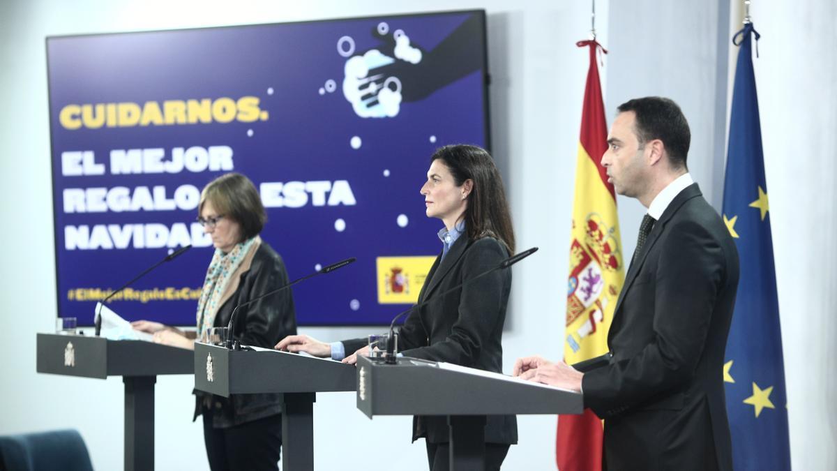 Marina Pollán, Raquel Yotti y Alfredo González en la presentación de la cuarta ronda del Estudio Nacional de Seroprevalencia