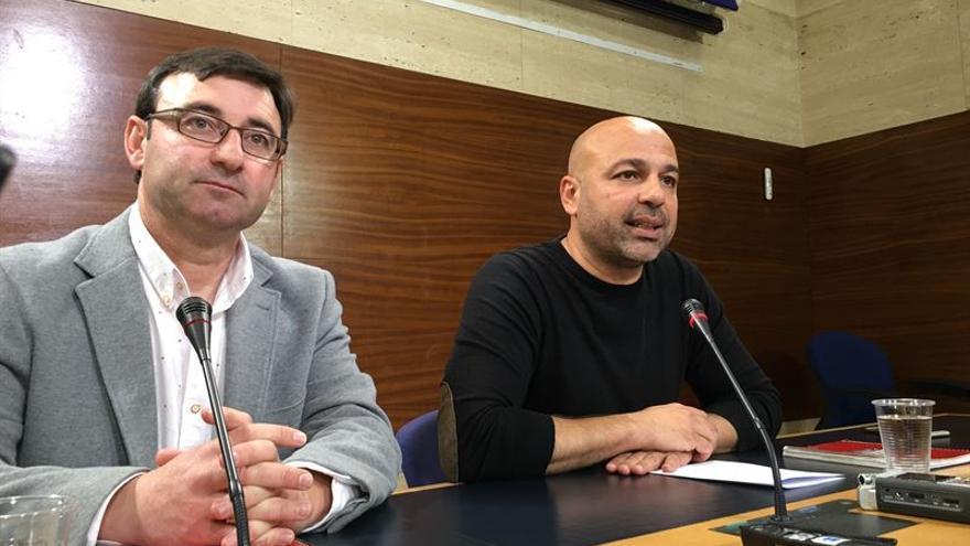 Daniel Martínez (IU) y José García Molina (Podemos) / Europa Press