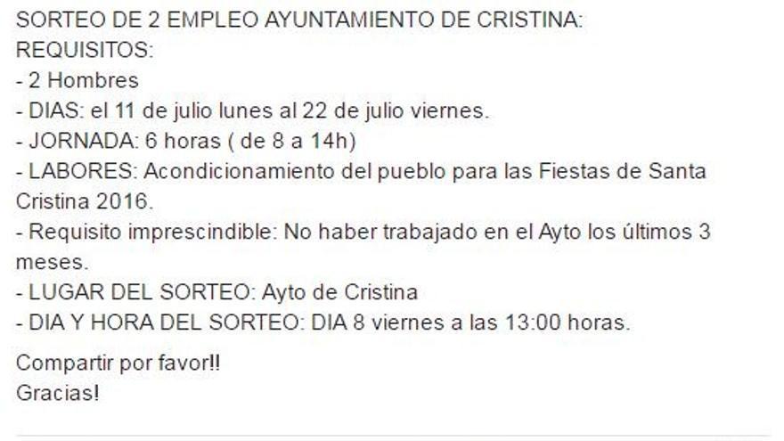 Cristina facebook machista