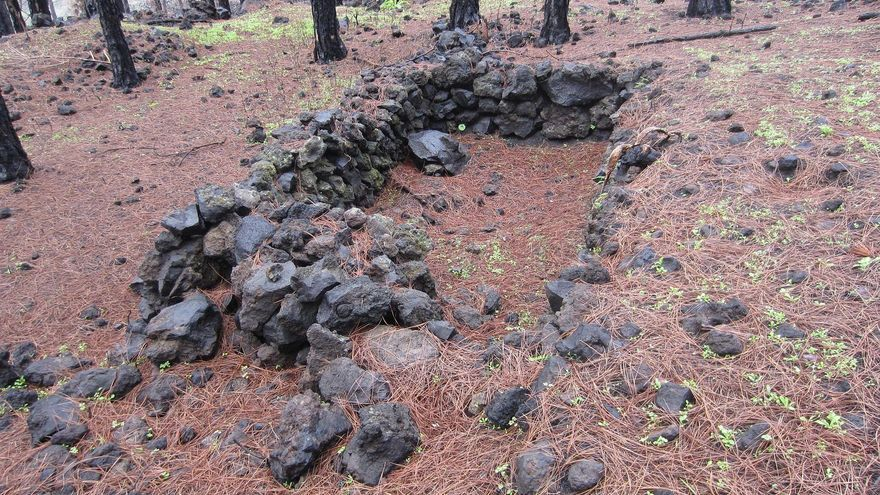 Yacimiento arqueológico de las Cabañas en Los Arreboles (Fuencaliente).