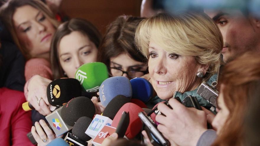 """Aguirre defiende que los casos de corrupción """"no deben quedar impunes"""" y dice a Podemos que ellos también los tienen"""