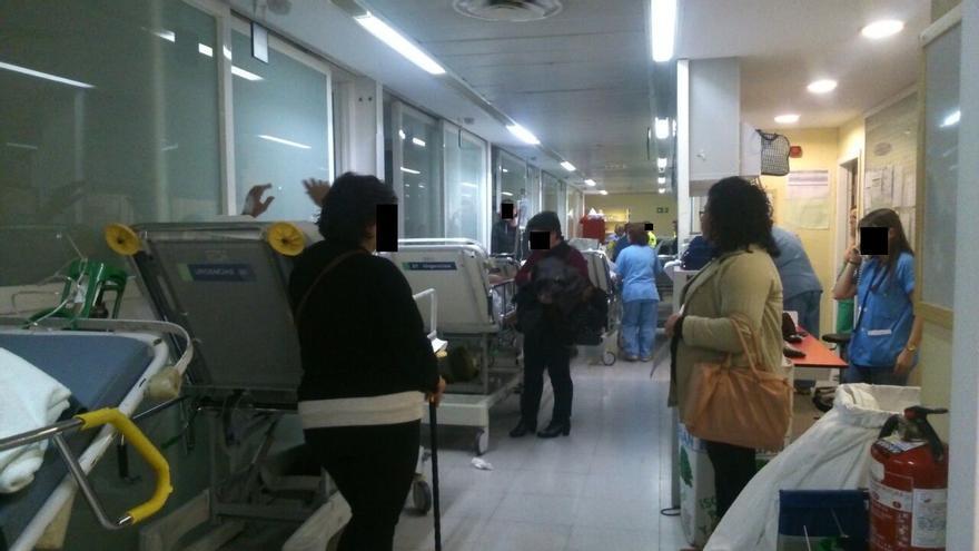 Estado de los pacientes en los pasillos del hospital de Toledo, 13/1/15