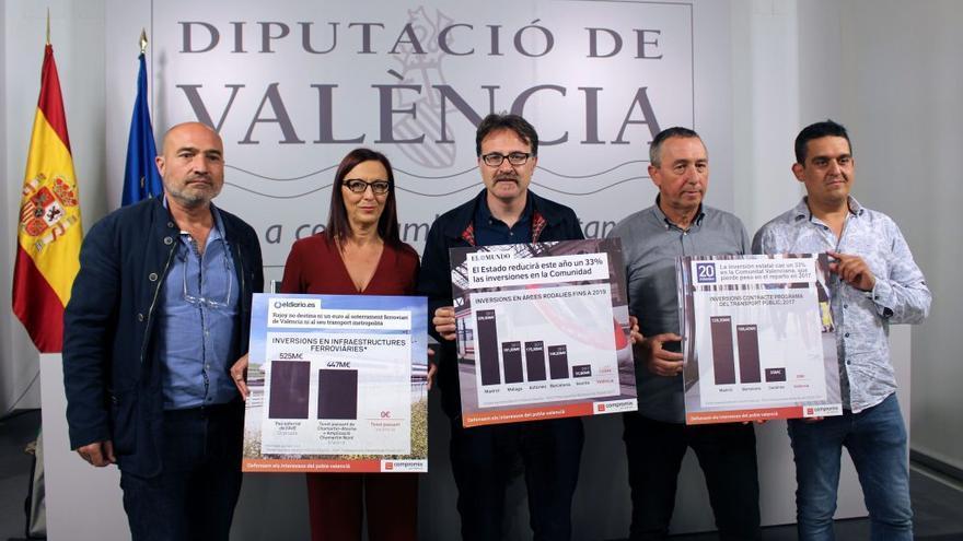 Los portavoces de Compromís han denunciado el trato de los PGE al transporte metropolitano