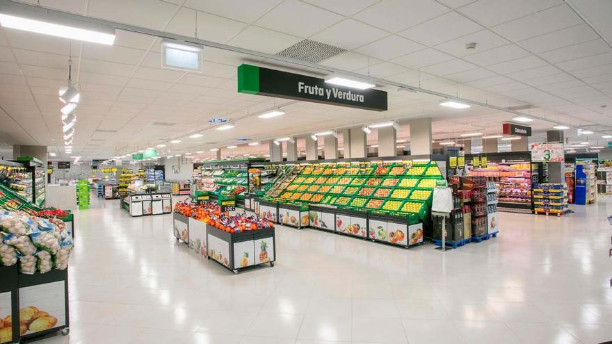 Sección de fruta del supermercado Mercadona.