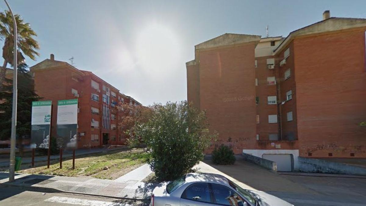 Barriada Suerte de Saavedra en Badajoz, donde también se ha desarrollado la operación