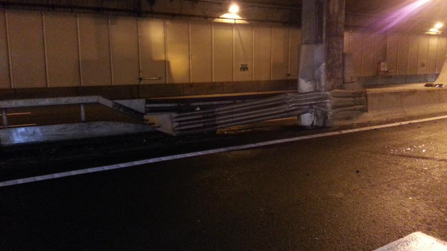 Aparatoso accidente en el túnel de San José #3