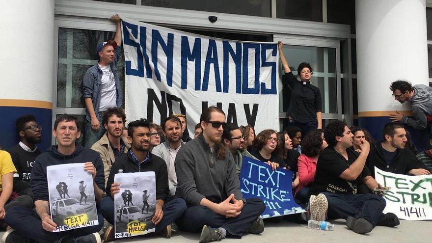 20 personas fueron detenidas recientemente en Boston cuando protestaban por la detención de activistas defensores de los derechos de las personas inmigrantes en Vermont (Cosecha)