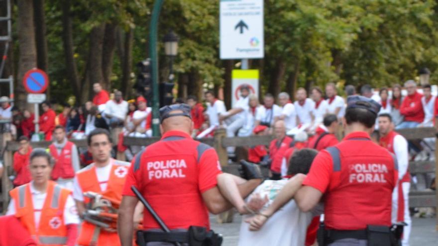 La Policía Foral detiene a ocho personas durante el cuarto día de las fiestas