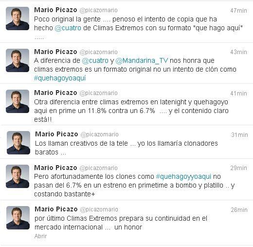 """Mario Picazo acusa a Cuatro de plagiarle con """"¿Qué hago yo aquí?"""""""