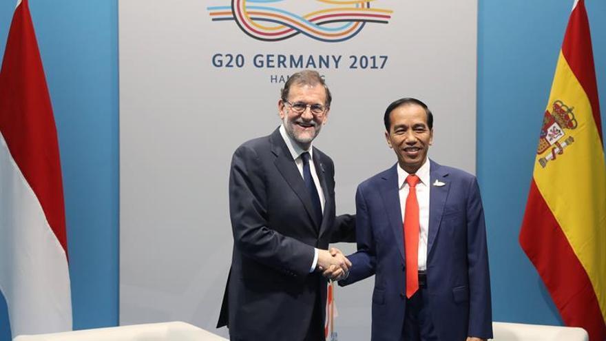 Rajoy y Widodo analizan la presencia de empresas españolas en Indonesia